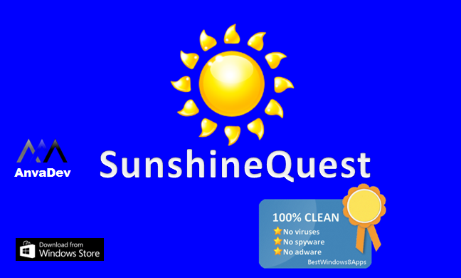 SunshineQuest splash screen