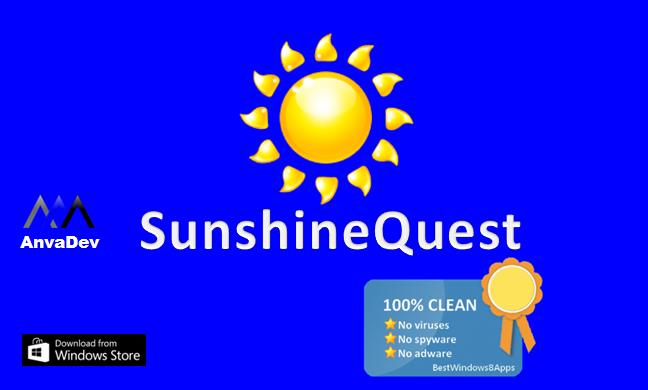 SunshineQuest splash screen
