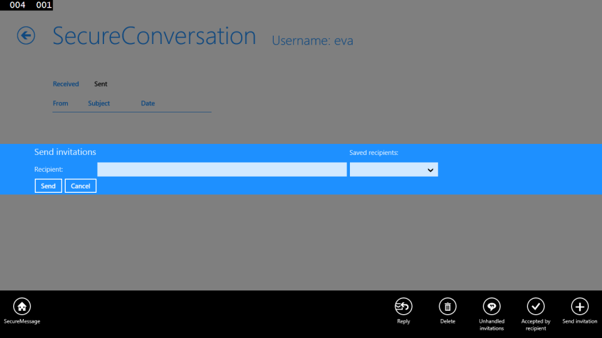 Send new SecureConversation invitation