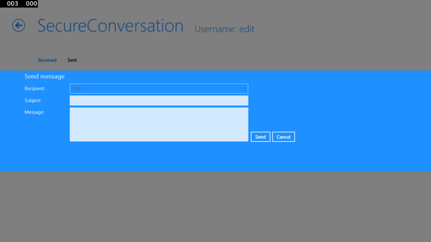 Send SecureConversation message